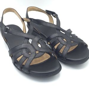 NWOB Naturalizer Nalani Black Leather Sandals